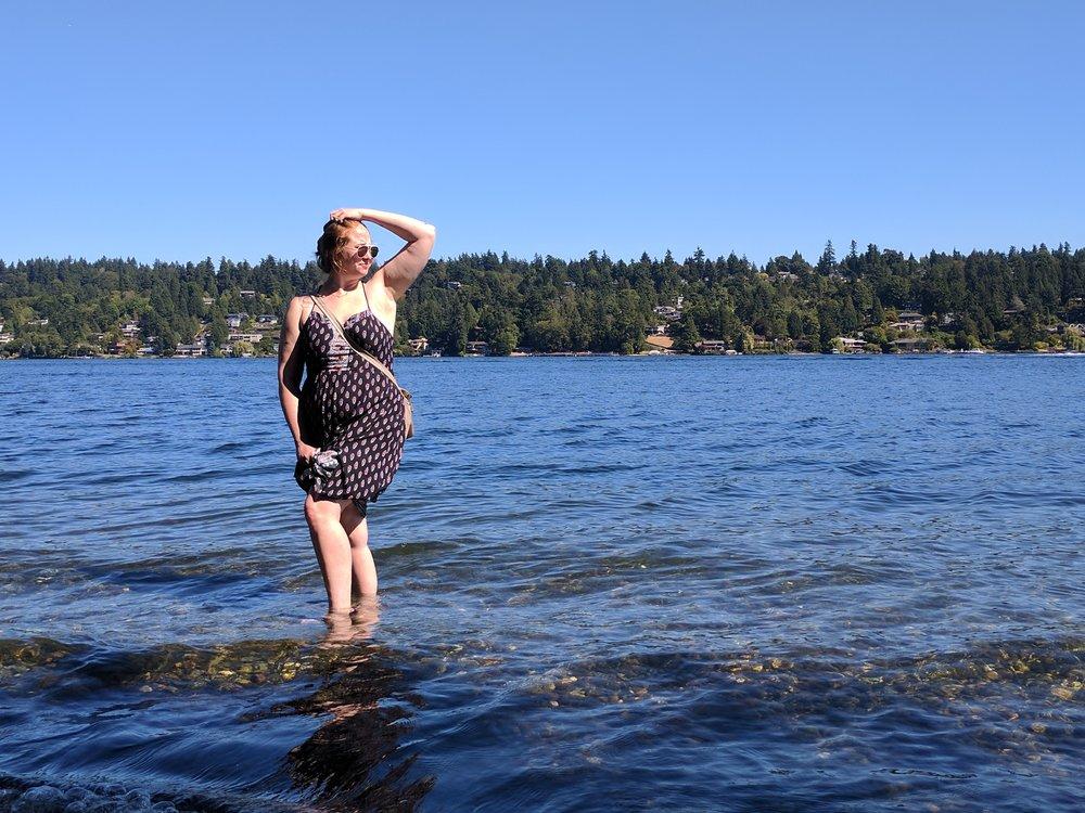 Hanging in Lake Washington in Seattle, WA!
