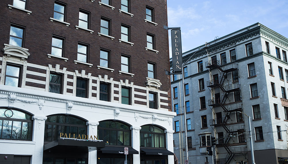 Kimpton Palladian Hotel - Located in the center of the city steps from Pike Place Market, Seattle Center, waterfront, live music, shopping and nightlife!