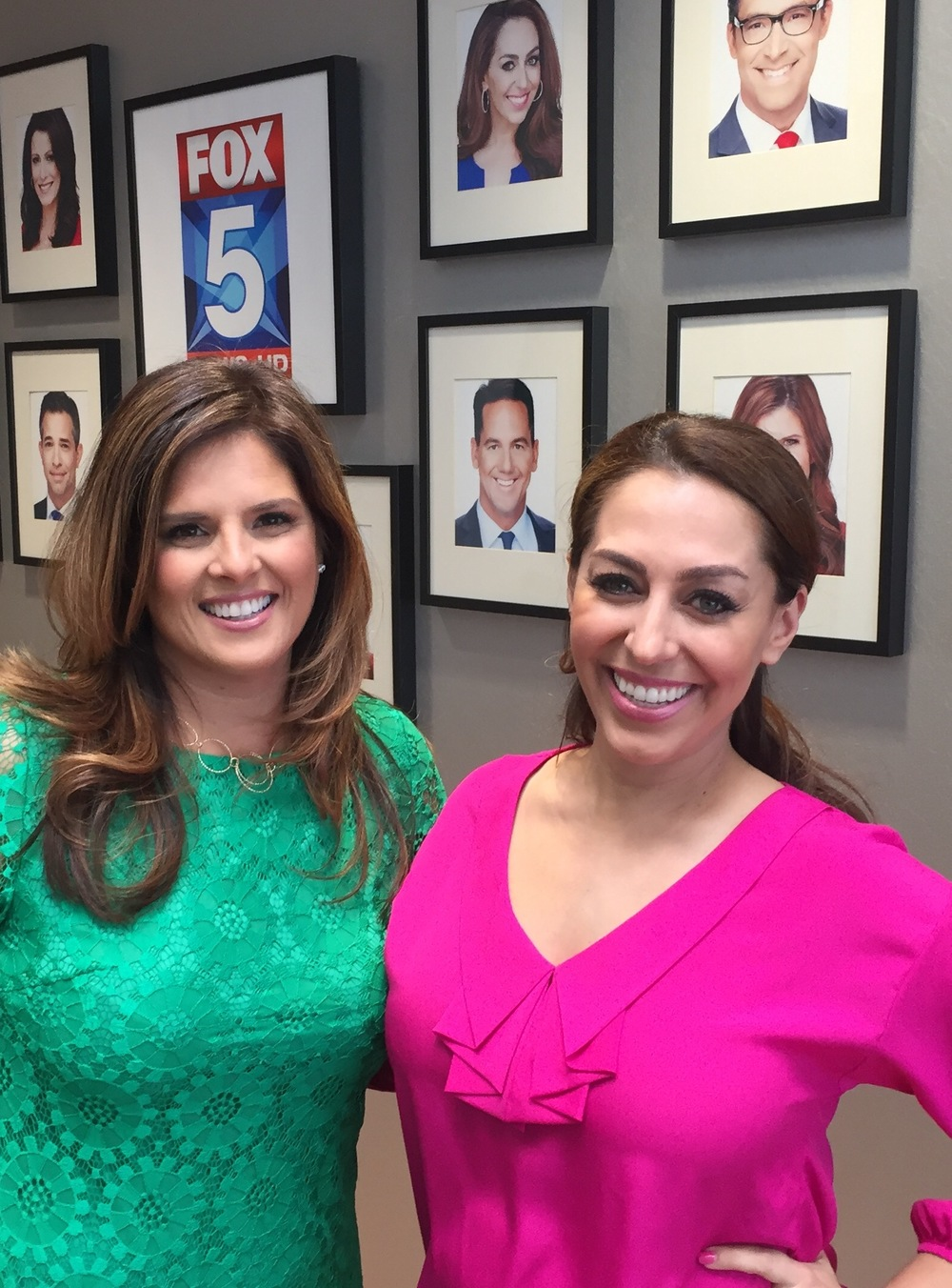 Luxe Specialist Rosalena Huarcaya with Shally Zomorodi of Fox 5 morning news