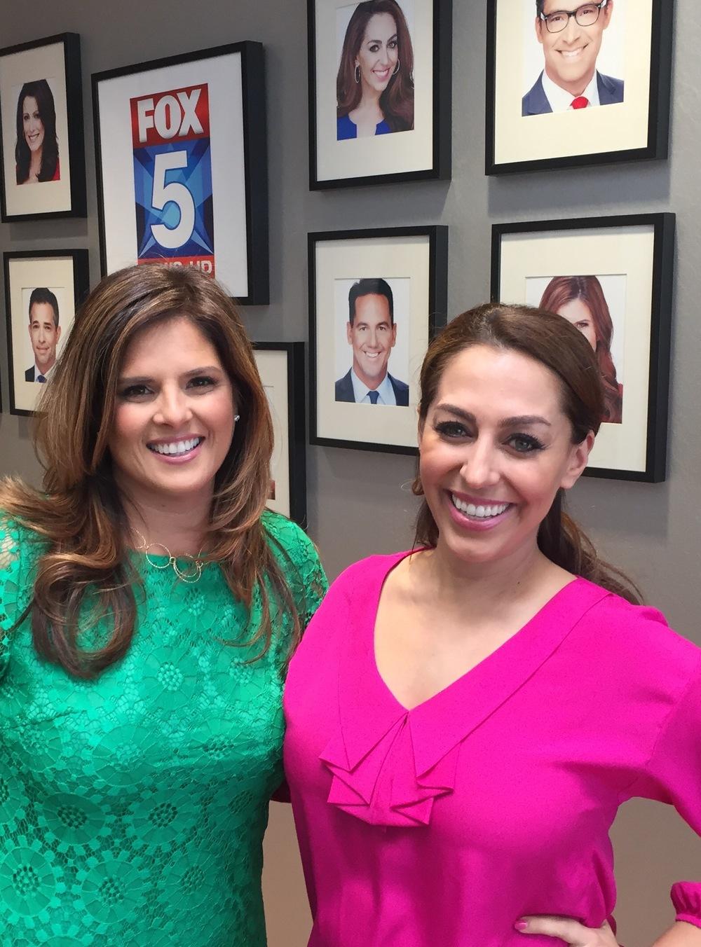 Luxe Specialist Rosalena Huarcaya with Shally Zomorodi of Fox 5 morning news