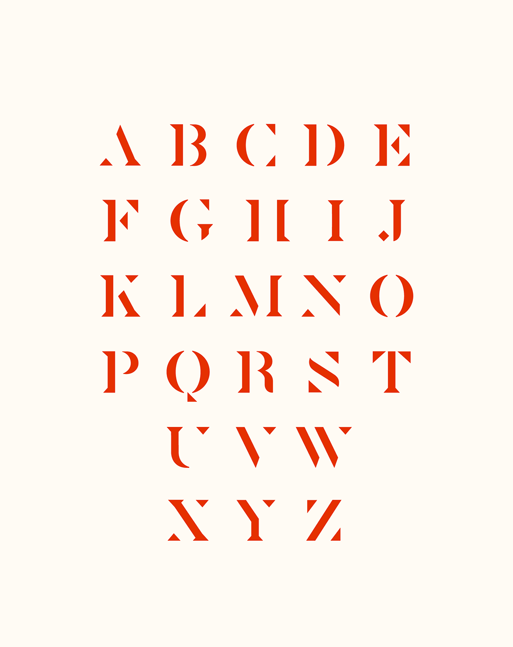 Leoa Typeface - The Leoa serif typeface, based on the logo, was developed and customized for the Saint Leone brand.