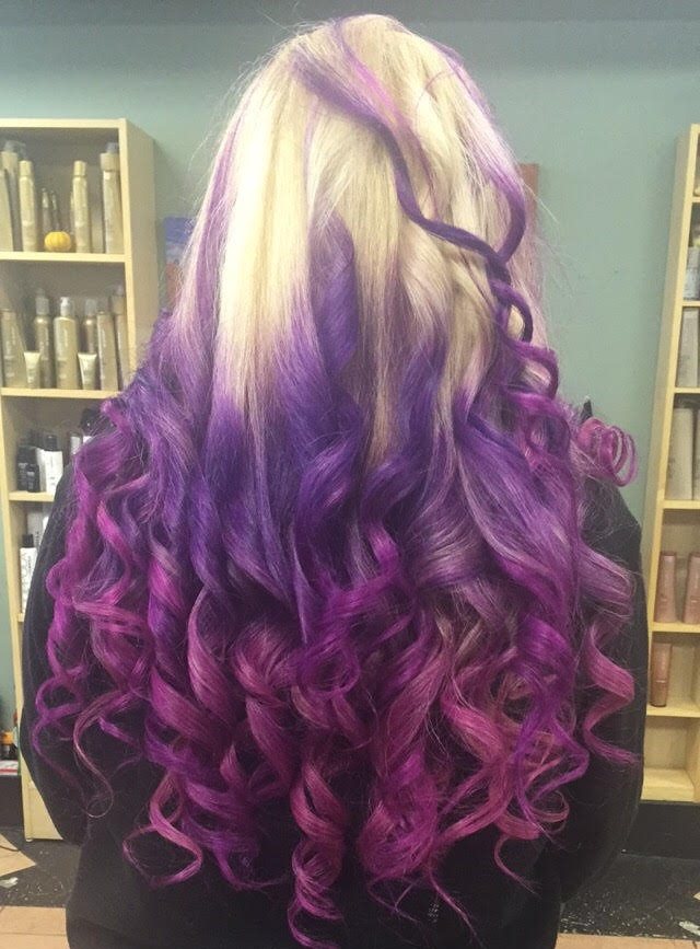 Finished Pink/Purple Ombre