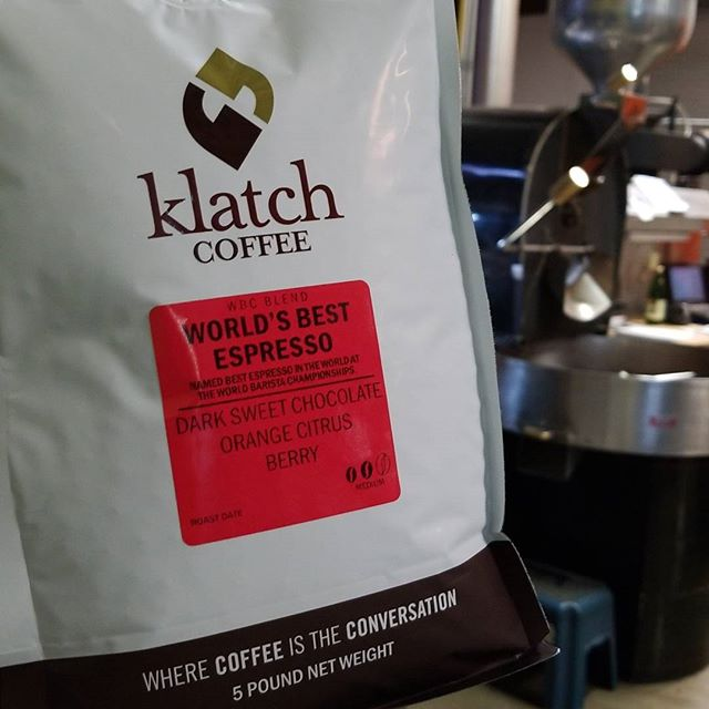 Look who's back from summer vacation!  Our award winning Worlds Best Espresso makes its return! This amazing coffee won this title over 45 competing countries at the World Barista Championships. Order a bag from our website (link in the bio) and #KlatchUp