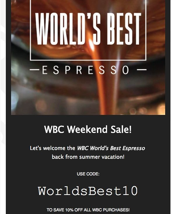 We're so excited to welcome back the WBC from it's summer vacation that we're doing a special 10% off all Worlds Best Coffee orders online! Just use WORLDSBEST10 at checkout. Visit our online store [link in bio] and #KlatchOn