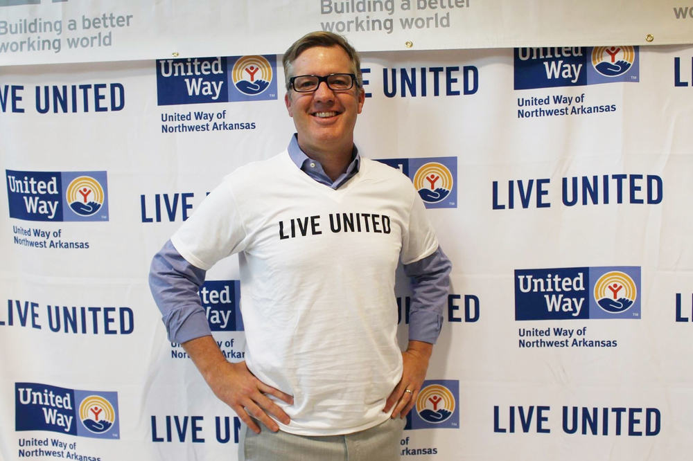 Todd Simmons, CEO of Simmons Foods, supports the United Way