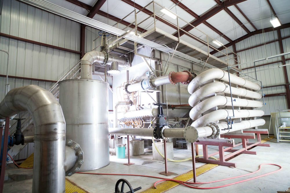 Photo of a Dissolved Air Flotation Unit (DAF) installed in 2013 at the Simmons Foods treatment facility. A DAF removes high phosphorus solids after primary activated sludge treatment.