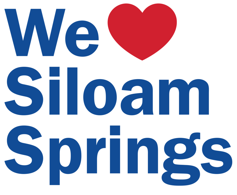 We love Siloam Springs text logo