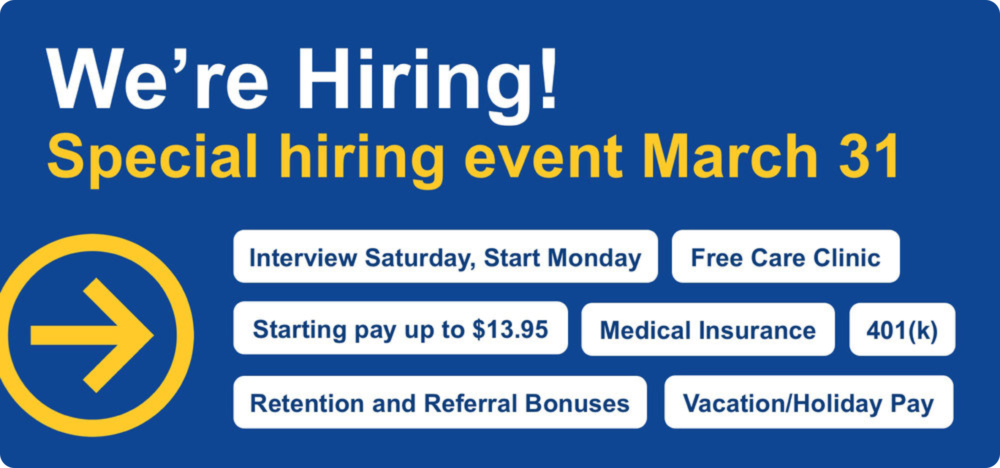 We're Hiring - Special Hiring Event