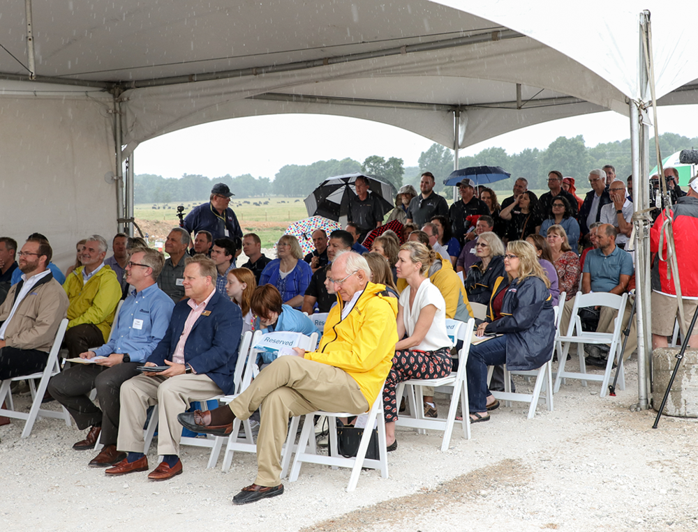 Guests attend the Site Dedication.