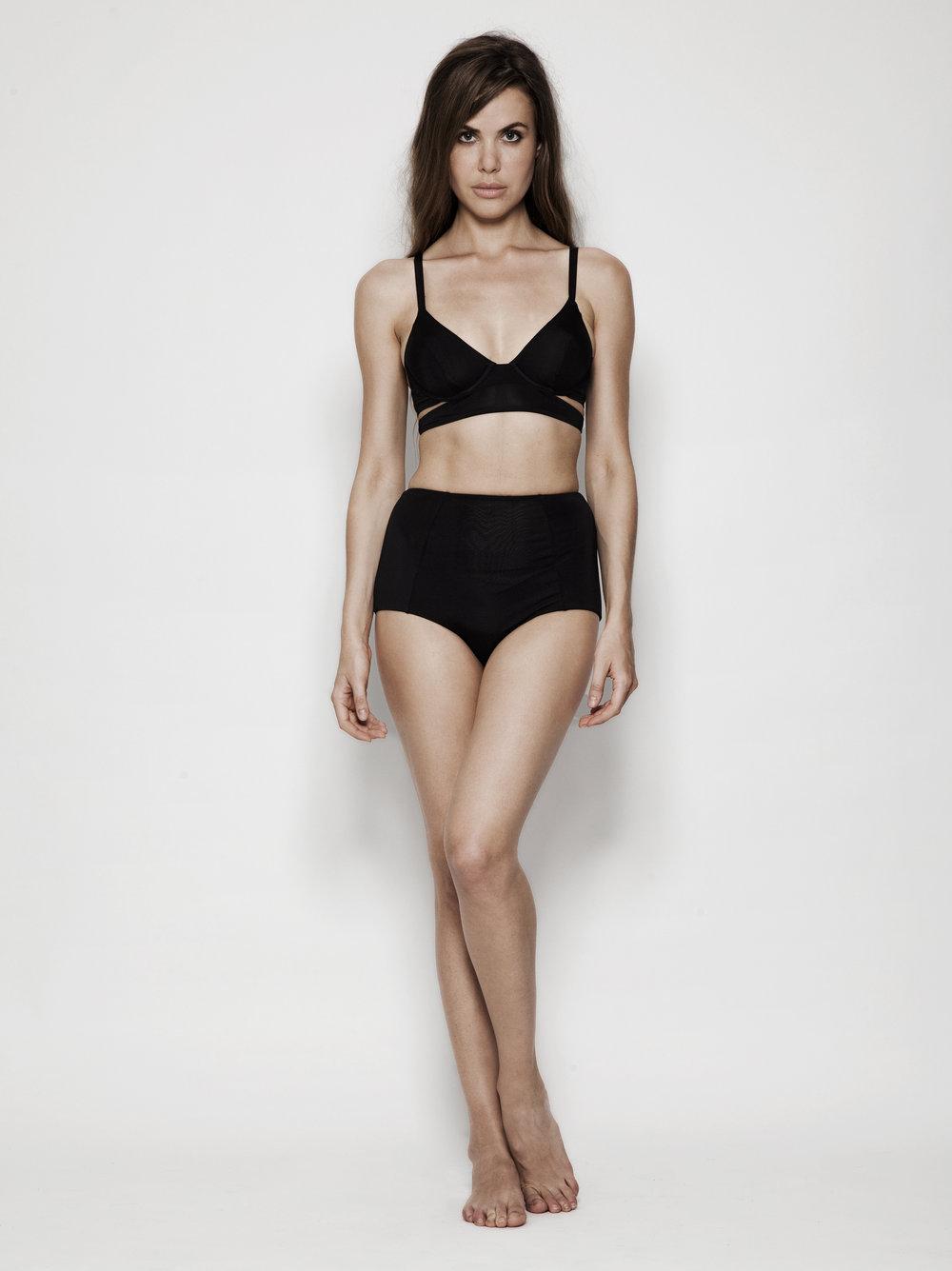 d516d33ff31 Ore Highwaisted Bikini Bottom - Black — Estuaries Designer Swimwear NYC