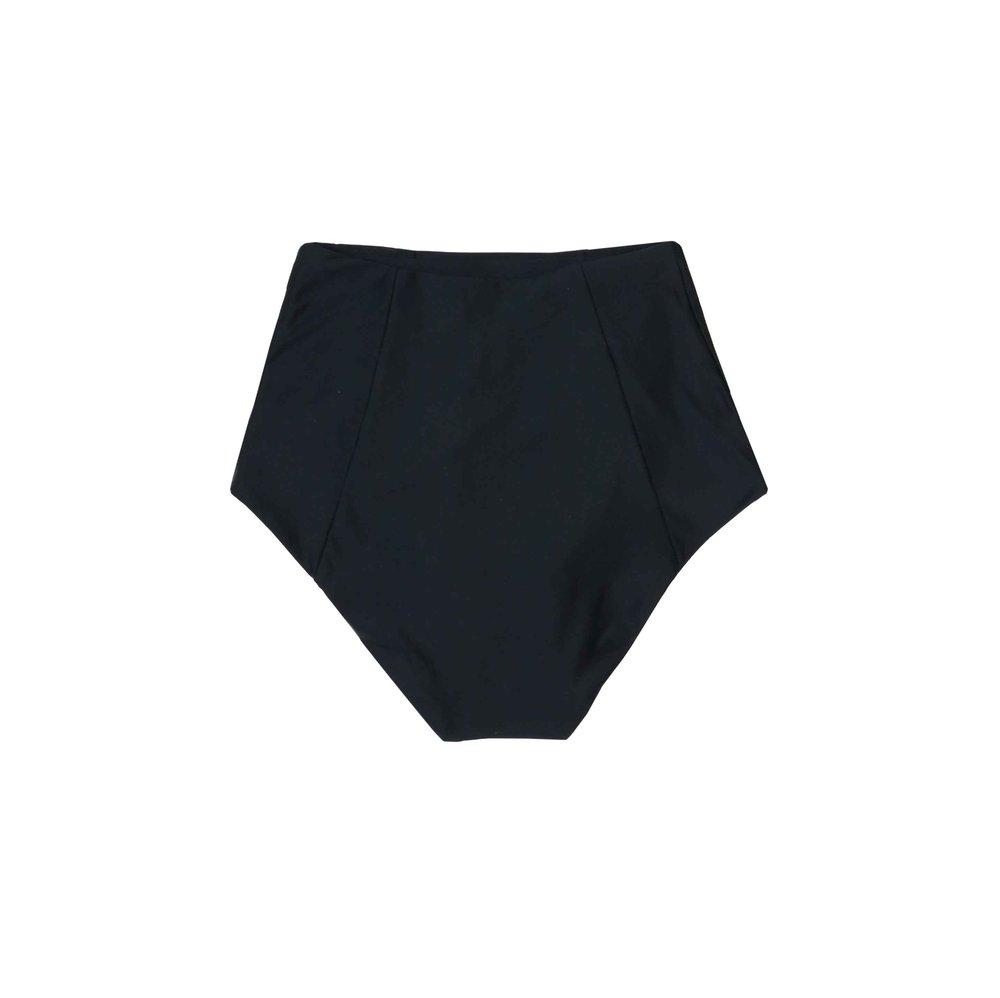 cfd8b4fd0 Ore Highwaisted Bikini Bottom - Black — Estuaries Designer Swimwear NYC