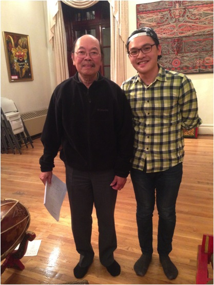 Pak Harjito (left), and myself