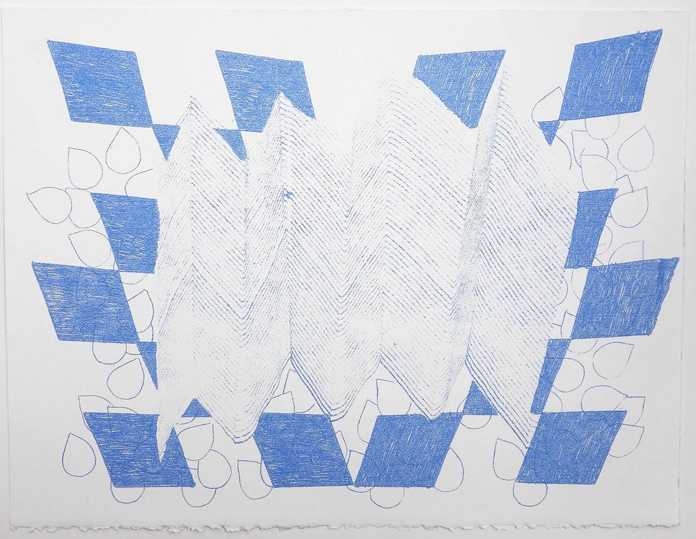 To The Mountain (#9) , 2015 Transfer pigment on paper; 11 x 15""