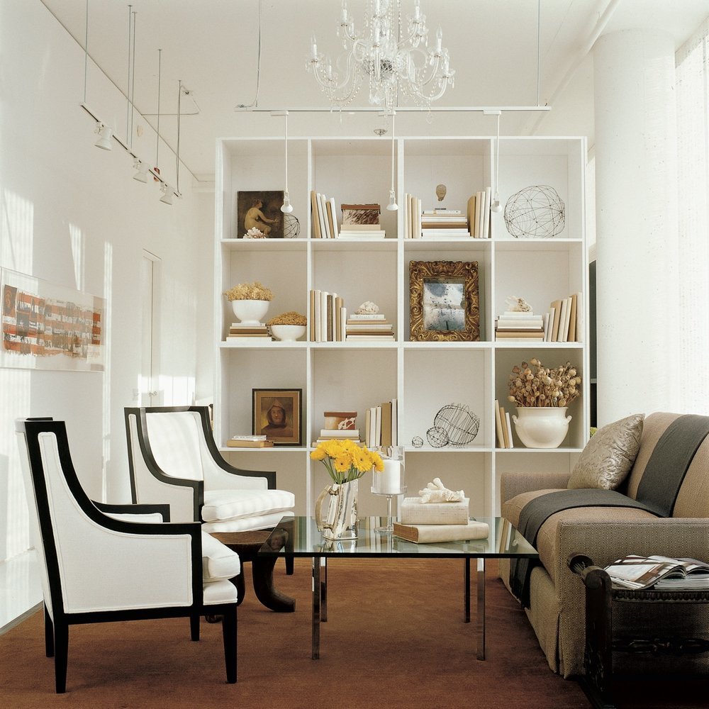 Accent chairs add dimension to the room