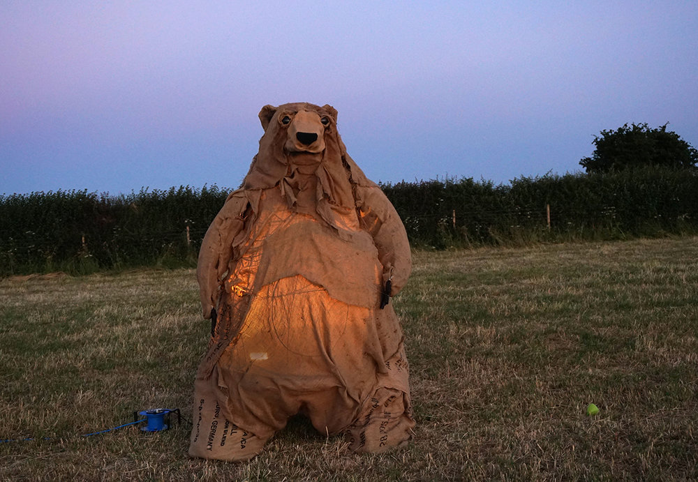 Geoff the Bear  Sculpture installation