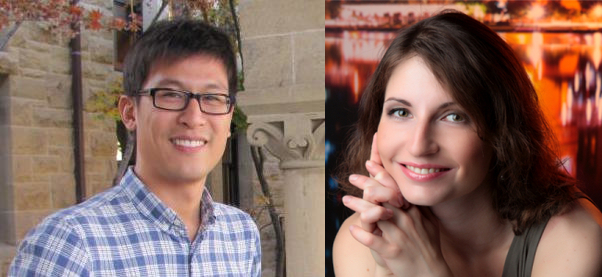 James Chu (left) and Maria Snegovaya (right)