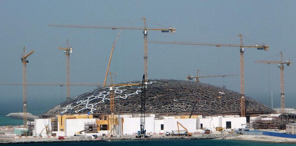 Building the Louvre in Abu Dhabi, UAE