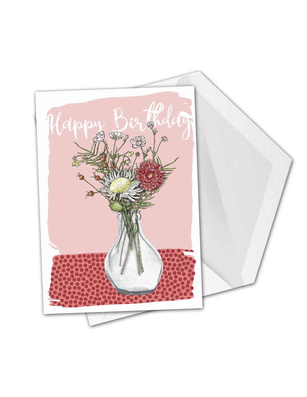 CA Small round clear vase flowers card.jpg
