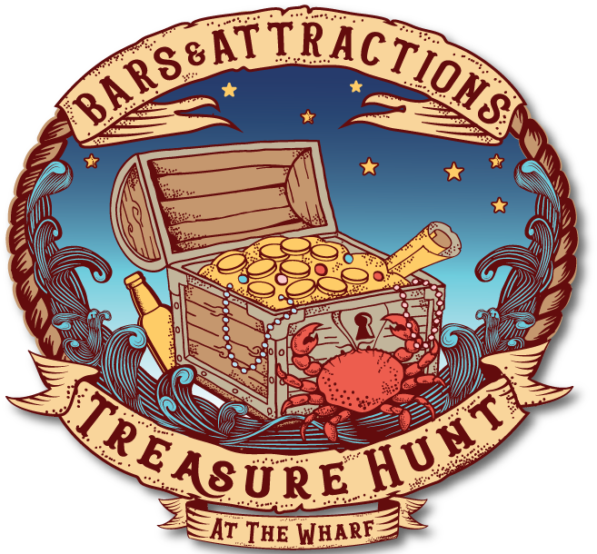 Bars & Attractions Treasure Hunt at the Wharf Logo