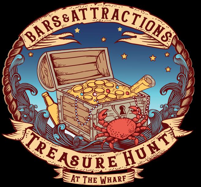Bars & Attractions Treasure Hunt at the Wharf Logo