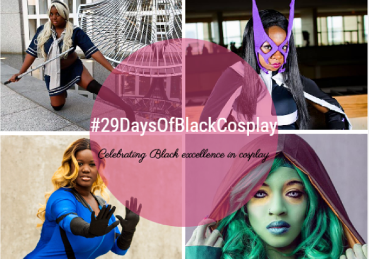 Thursday February 25, 2016, look for me on Facebook,  www.facebook.com/talynnkel , Twitter, @TaLynnKel, and on  www.blackgirlnerds.com  when I'll be featured for #29DaysOfBlackCosplay.