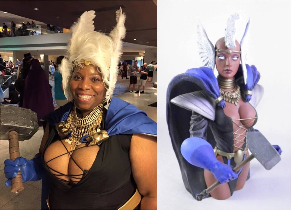 Me as Asgardian Storm at DragonCon 2015