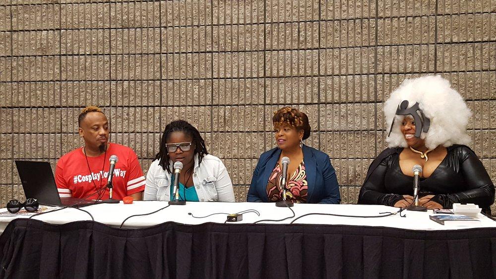 Panelists: Barr Foxx Cosplay, Valerie Complex, Valencia Joseph, and TaLynn Kel