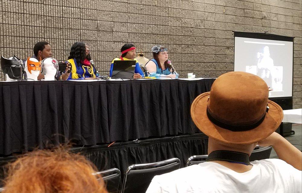 Panelists: CoretoonzCosplays , Barr Foxx , Dean's Lyst , and  Baroness Boom Boom Cosplay