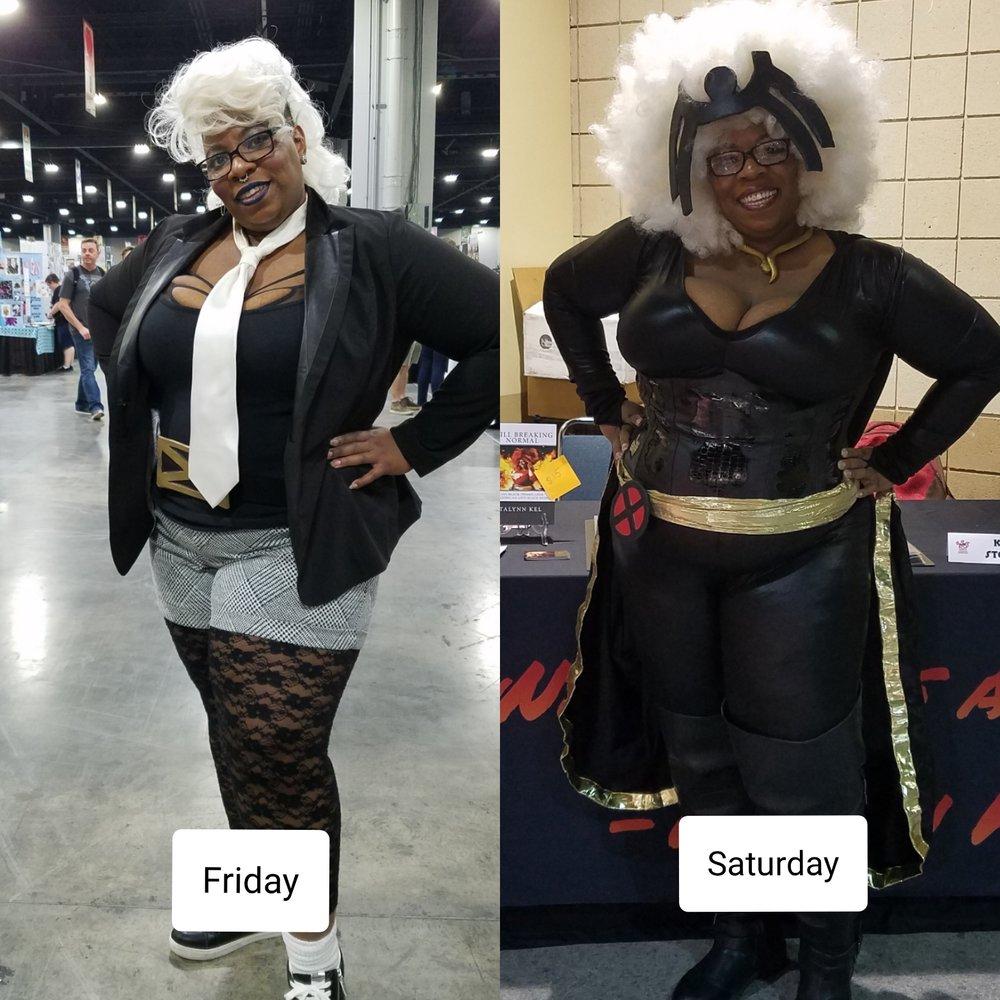 Friday vs Saturday Cosplay - I loved them both.