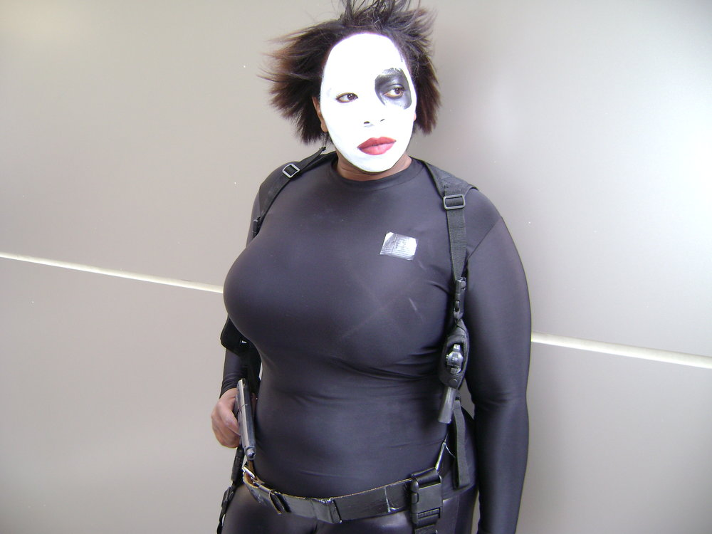 TaLynn Kel in Domino cosplay, 2007