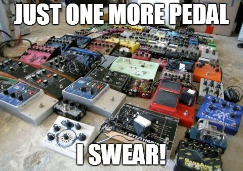 Unless you're Adam Jones from Tool, you don't need this many pedals.