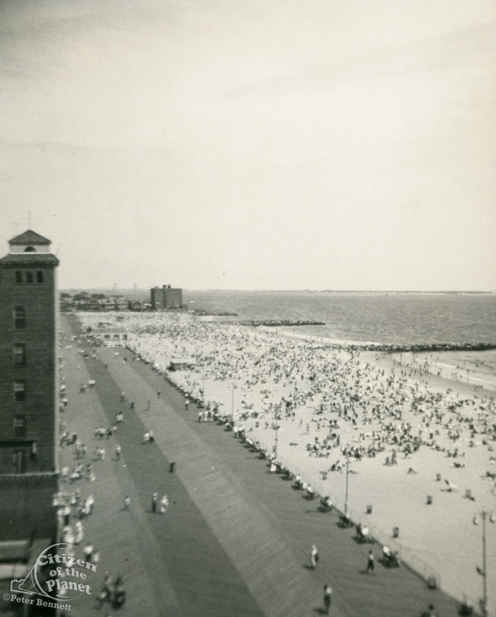 View of Brighton Beach from my Mother's window