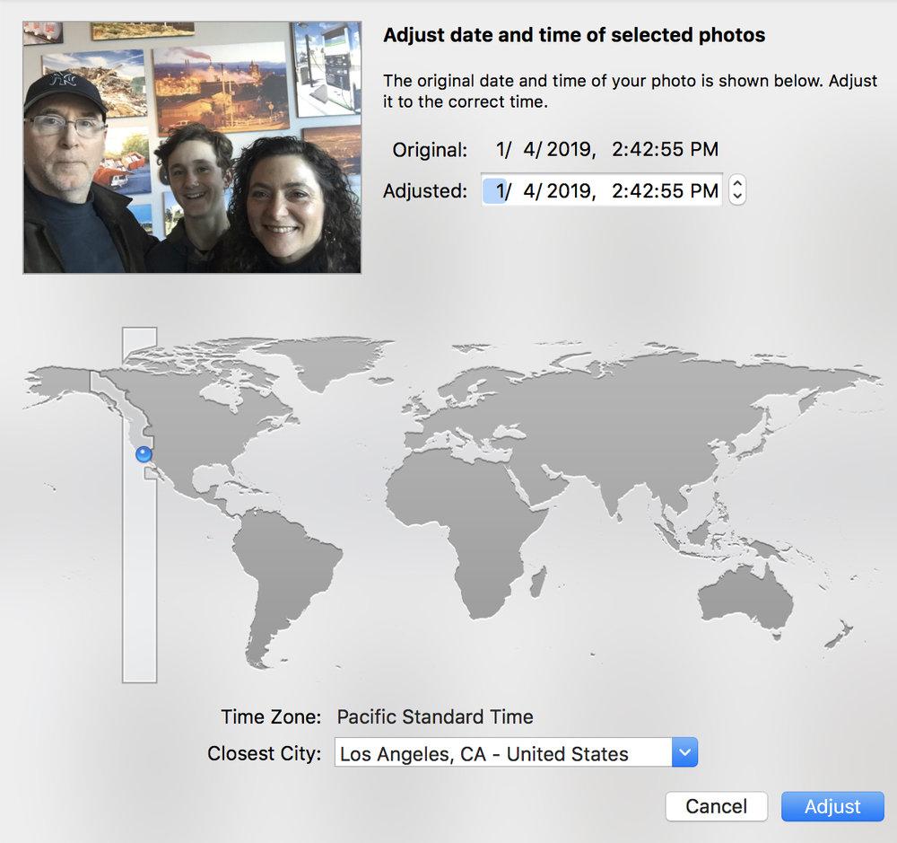 Adjusting Capture Date in Apple Photos
