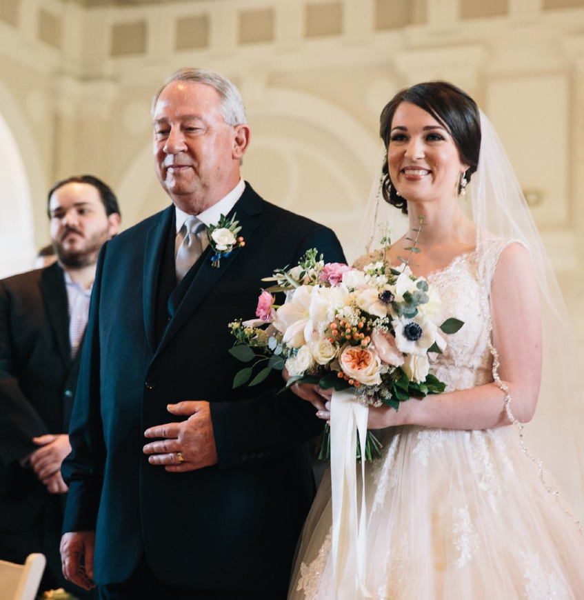 Father of the Bride and Allison Britt (the Bride) | Photo:   Tim Redman