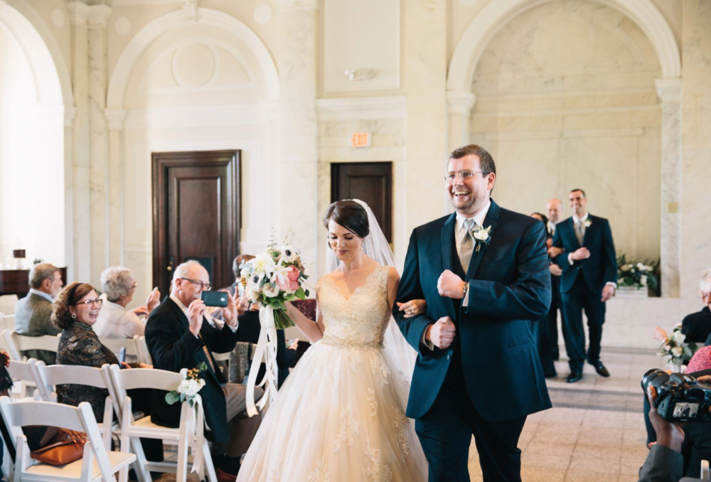 Britt-Griffin Wedding Recessional at Historic Dekalb Courthouse | Photo:   Tim Redman