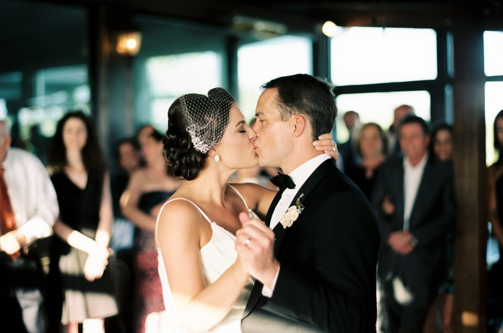 Jessica and Mike's first dance as a married couple.   Cottrell Photography  |  Wolf Mountain Vineyards