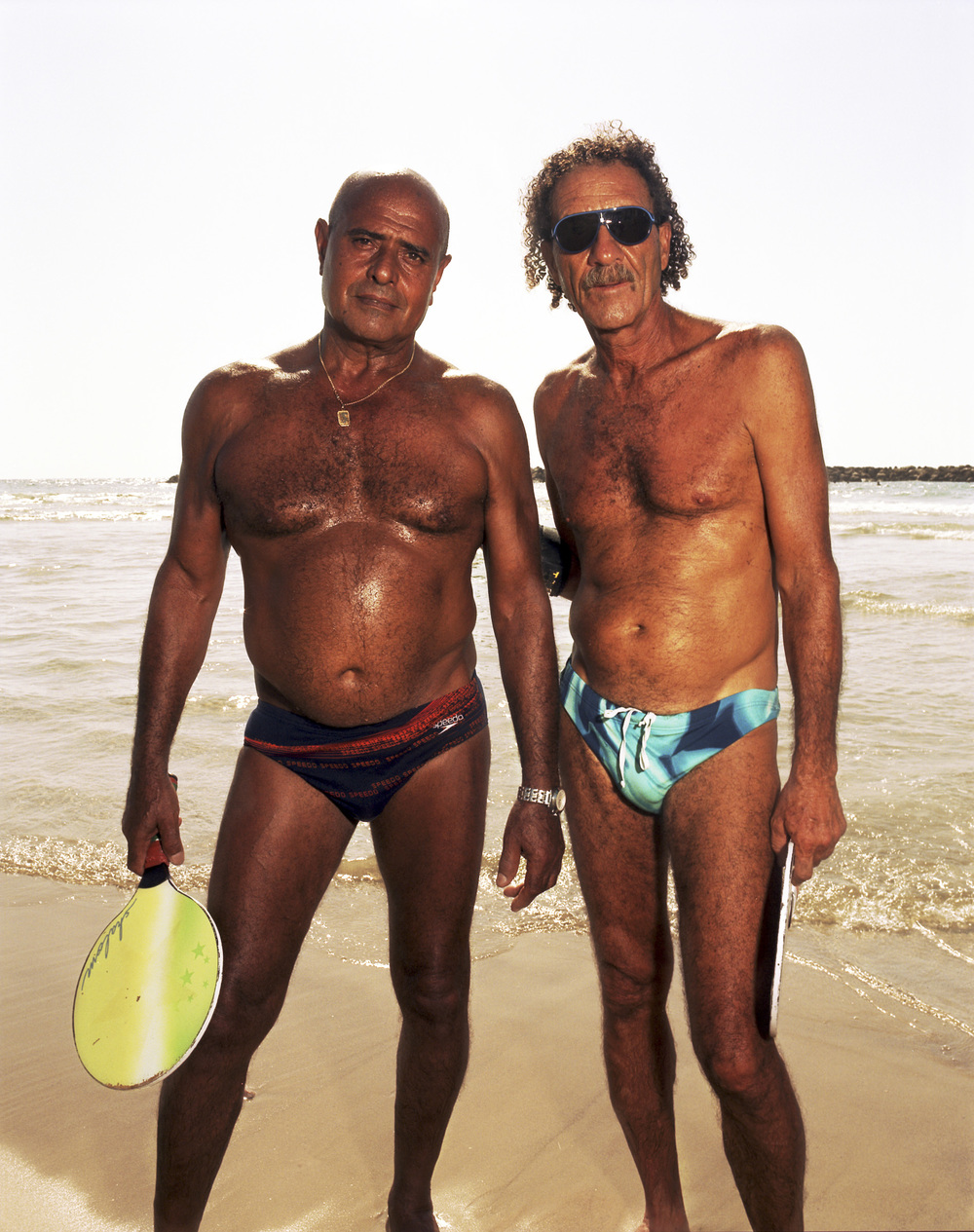 Oded and Michael, 2011   Oded and Michael play matkot—the Israeli form of beach tennis—almost daily on the beach.