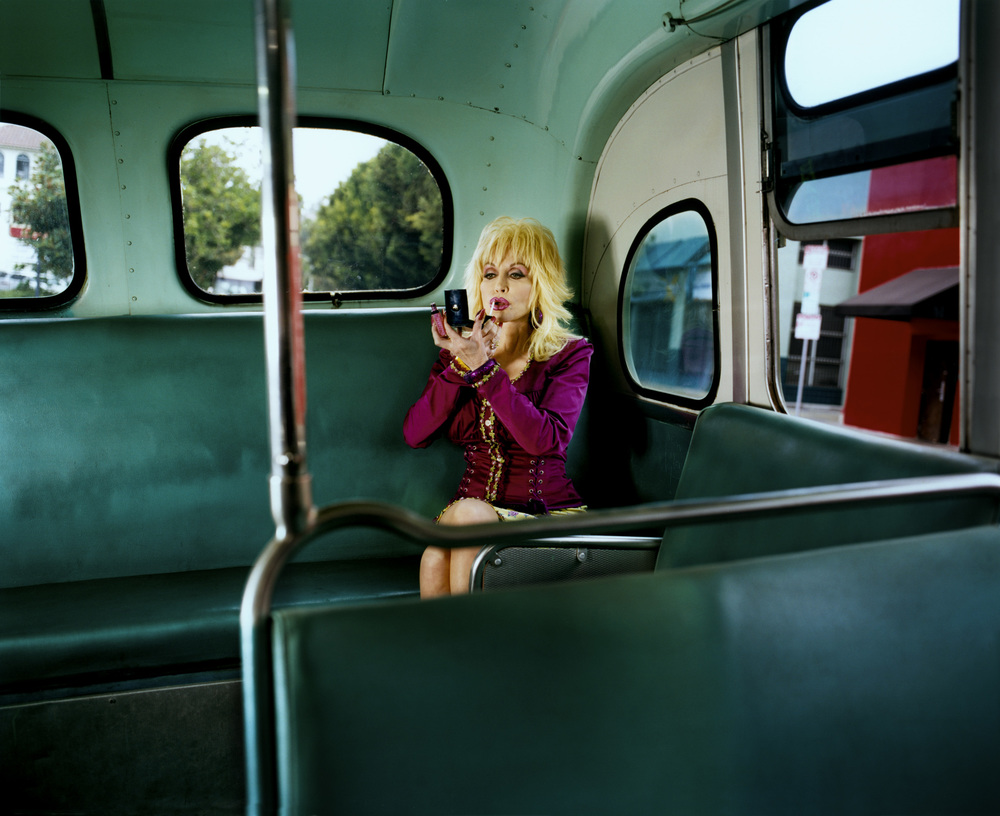 Dolly Parton on the bus