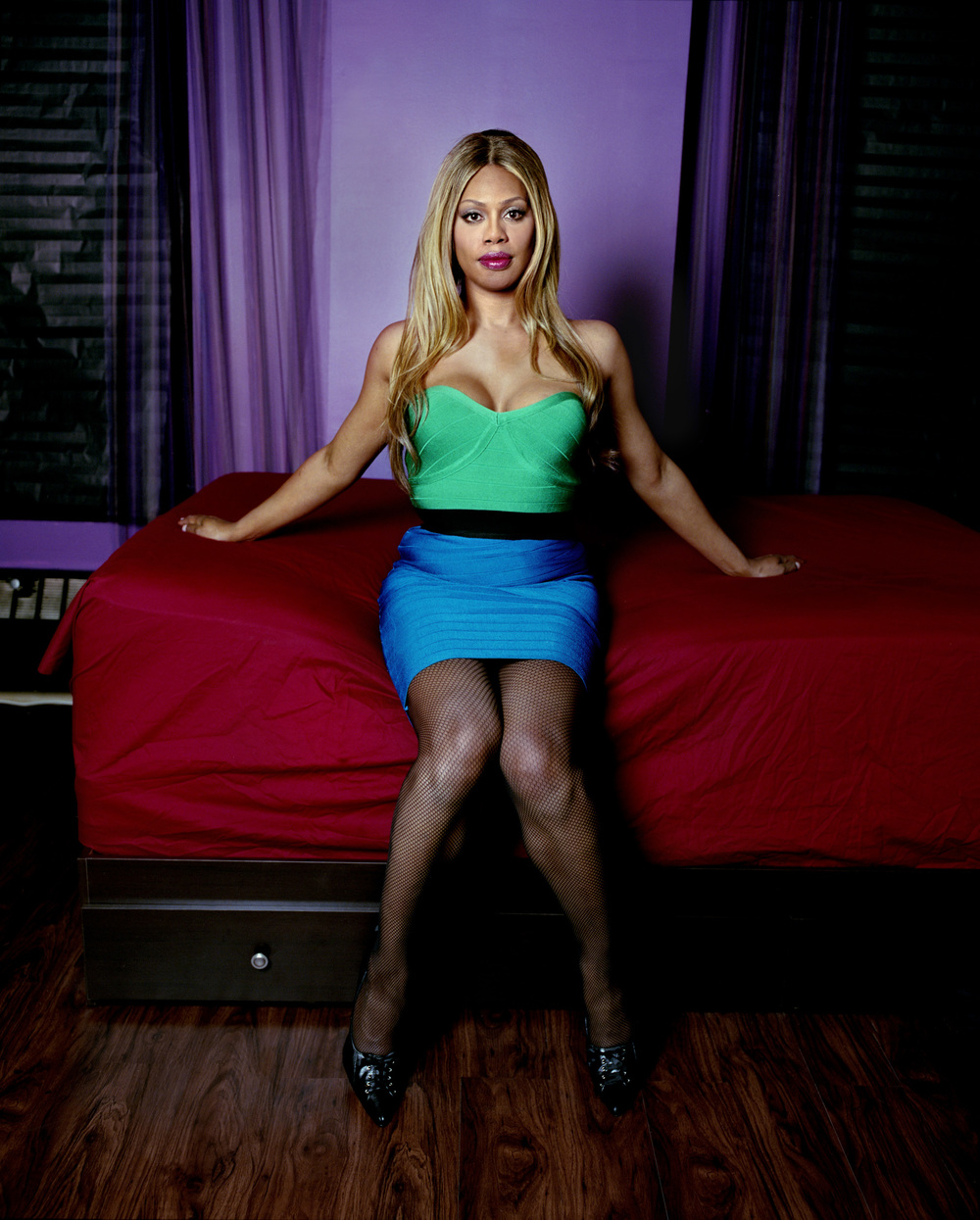 Laverne Cox in her bedroom, New York City, 2014