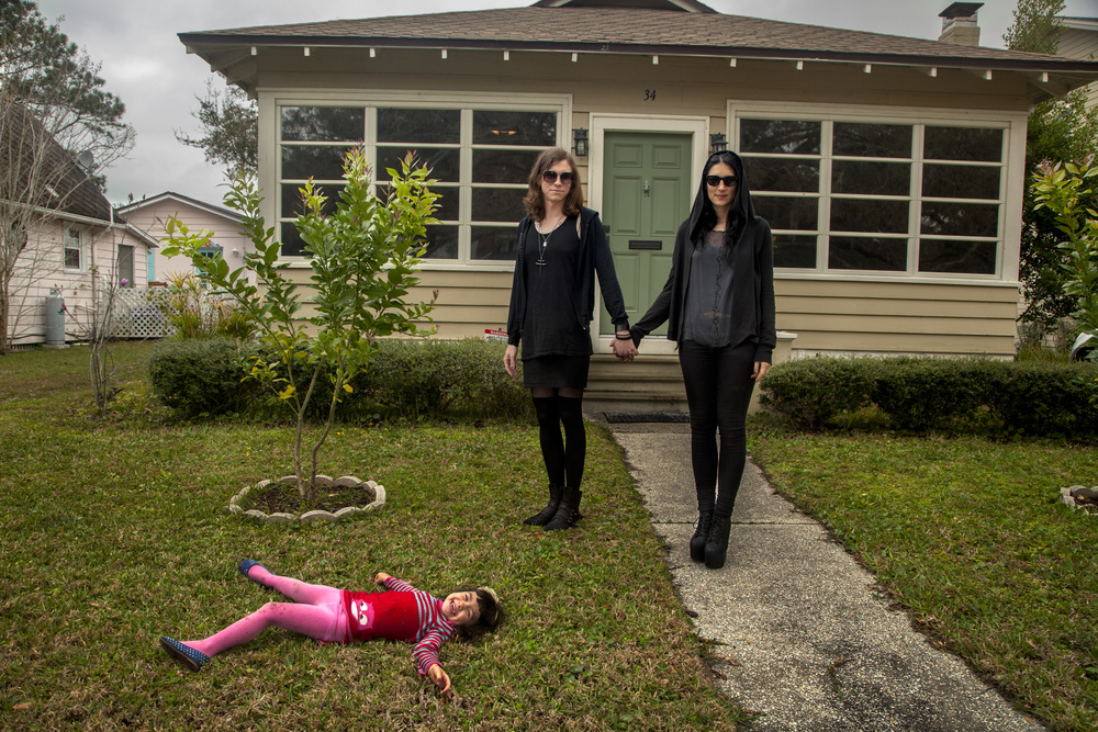 "Laura Jane Grace with her wife and daughter, Florida, 2013   ""I was numb. I couldn't write; I couldn't function. The feelings were totally consuming. I just couldn't live the lie anymore,"" says Laura Jane Grace of the punk band Against Me! before transitioning to female."