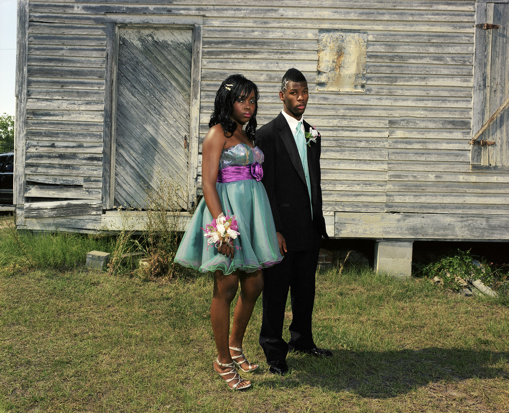 Amber and Reggie, Mount Vernon, Georgia, 2011   Last year, when we had the first integrated prom, I couldn't go. I was in the hospital after a flare up from my sickle cell anemia. I was devastated that I missed out on history being made. Prom is everything around here in this small town.  —Amber