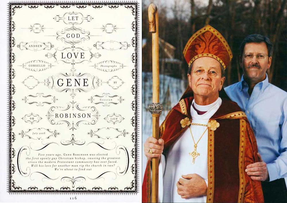 Bishop Gene Robinson with his husband Mark
