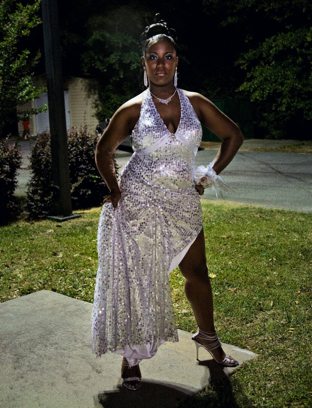 Felicia after the black prom, Vidalia, Georgia, 2009