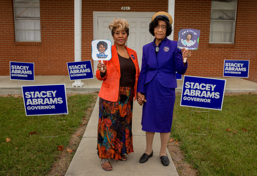 Campaigning for Stacey Abrams / Vanity Fair