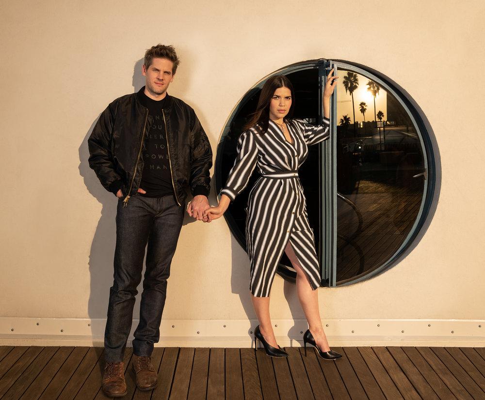 America Ferrera and her husband Ryan Williams / Vogue Magazine