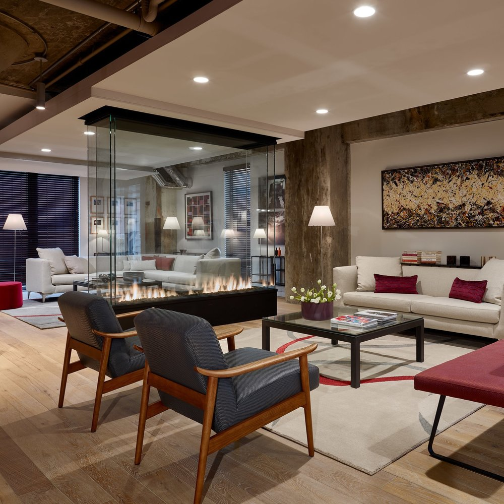 Lobby and Common Spaces at Metro 9 Condominium Project - Somerville, MA