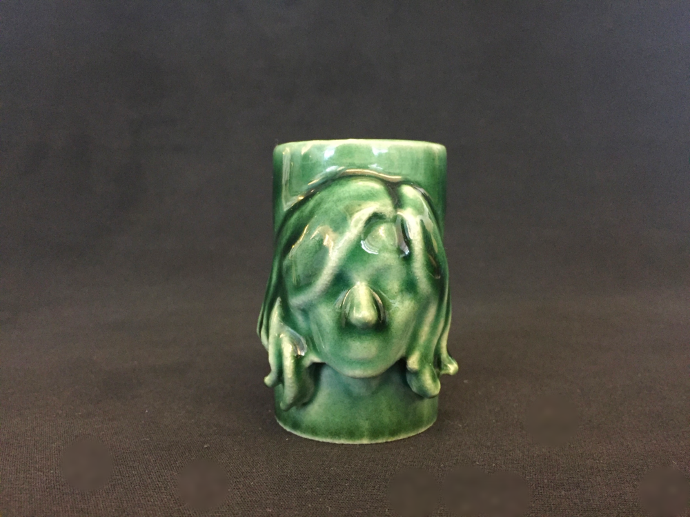 Glazed porcelain 3D printed shot glass