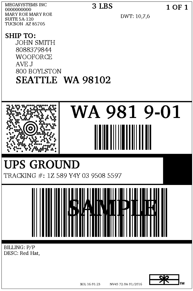 Current shipping label technology can be integrated into the smart label