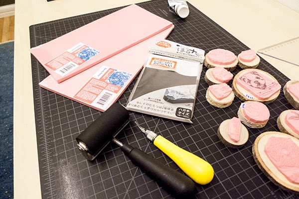 Q a rubber stamp carving tools materials and techniques