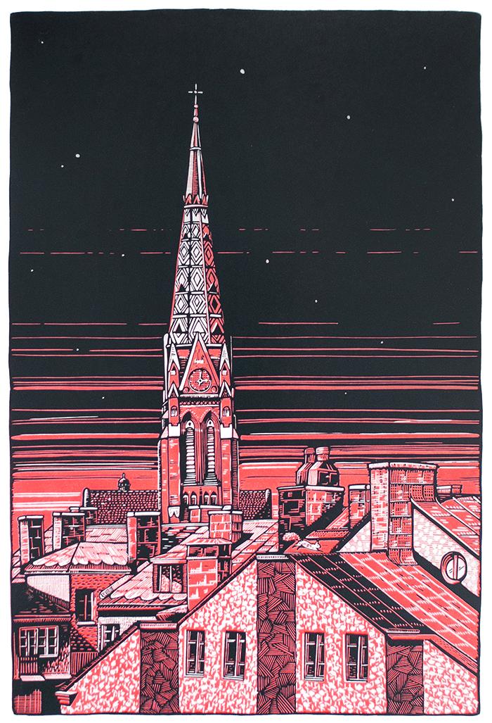 stockholm-st-johannes-kyrka-church-reduction-linocut-red-complete-wide-border-700.jpg